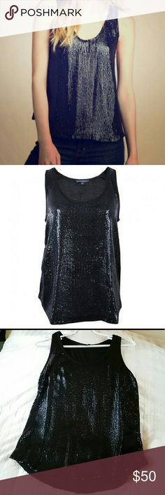 French Connection sequin tank French Connection Alexis Sequin Vest Top. 100% polyester. Front & back sequins. The versatile piece can be dressed up or down. French Connection Tops Tank Tops