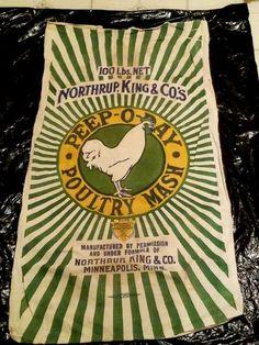 Flour Sacks, Minneapolis Minnesota, Feed Sacks, Peeps, Label, Signs, Shop Signs, Sign