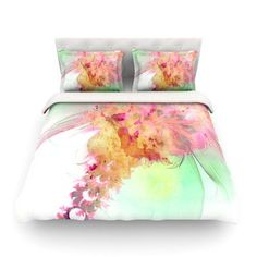 KESS InHouse Lily by Alison Coxon Featherweight Duvet Cover Size: King, Fabric: Woven Polyester