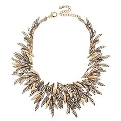 """Jane Stone Gold Tone Statement Zirconia Sipke Chips Cluster Choker Collar Bib Necklace Gorgeous Women Shining Crystal Bridal Wedding Party Jewelry Elegant 25.2""""(Fn1713) -- To view further for this item, visit the image link."""