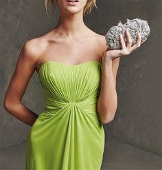 Sleeveless V-neck Floor Length Bridesmaid Dress