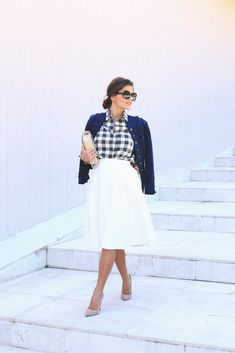 White Midi Skirt Outfit Idea by Seams For a Desire White Midi Skirt, Midi Skirt Outfit, Skirt Outfits, Dress Skirt, Midi Skirts, Modest Outfits, Modest Fashion, Skirt Fashion, Love Fashion