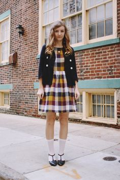 Am I too old to pull off that School Girl look?   Via Fancy Fine