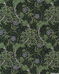 The Morris Apprentice - Wild Garlic - Dark Green.  By Barbara Brackman for Moda Fabrics on eQuilter.com.