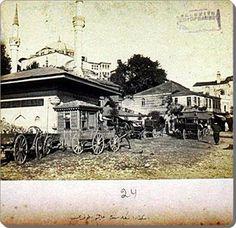 'Üsküdar iskelesinden çarşıya doğru 1860lar
