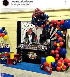 New Party Decoracion Ideas Birthday Men 19 Ideas Spiderman Theme Party, Superhero Birthday Party, 6th Birthday Parties, Batman Party, Man Birthday, Birthday Party Decorations, Birthday Ideas, Avengers Birthday, Partys