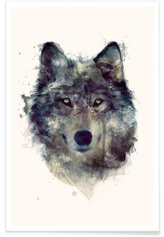 Shop for wolf art from the world's greatest living artists. All wolf artwork ships within 48 hours and includes a money-back guarantee. Choose your favorite wolf designs and purchase them as wall art, home decor, phone cases, tote bags, and more! Wolf Illustration, Animal Illustrations, Fashion Illustrations, Watercolor Illustration, Love Painting, Painting & Drawing, Knife Painting, Watercolor Wolf, Tattoo Watercolor
