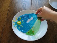 Almost Unschoolers: Summer Fun Day 13 - Gummy Creations - Painting With Gummy