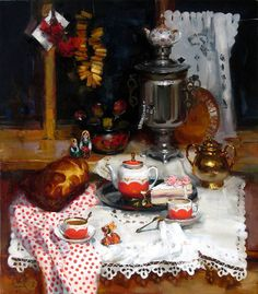 VK is the largest European social network with more than 100 million active users. Painting Still Life, Still Life Art, Beautiful Paintings, Beautiful Landscapes, European Decor, Cake Illustration, Academic Art, Art Poses, Russian Art