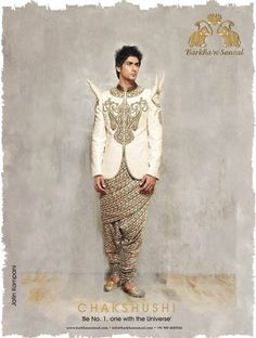The theme of their, collection is CHAKSHUSHI - the art where one is able to perceive and see all 3 worlds. www.facebook.com/barkhaNsonzal www.twitter.com/barkhaNsonzal  #BarkhanSonzal #BarkhaSharma  #SonzalPatel, #BarkhaPatel #fashion  #menswear , #groomswear #India #sherwanis  #jackets #breeches #jodhpuris #funkywear #contemporary #dance #music