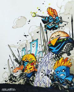 Art Sketches, Art Drawings, Concept Art Tutorial, Arte Robot, Dope Art, Fantasy Rpg, Fantastic Art, Awesome, Art Studies