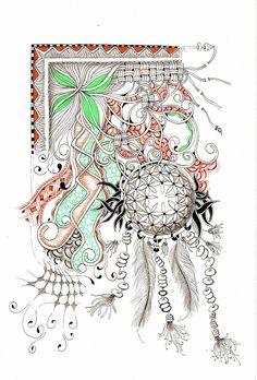 #Zentangle inspired art by #CertifiedZentangleTeacher Shelly Beauch