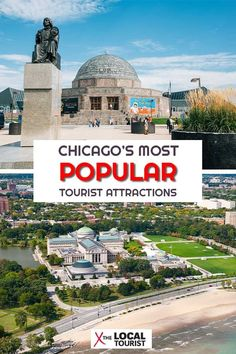 Check out the top tourist attractions in Chicago. Chicagos most popular tourist attractions provide countless hours of entertainment for the entire family. Usa Travel Guide, Travel Usa, Travel Guides, Travel Tips, Travel Packing, Travel Goals, Travel Advice, Travel Essentials, Vacation Destinations