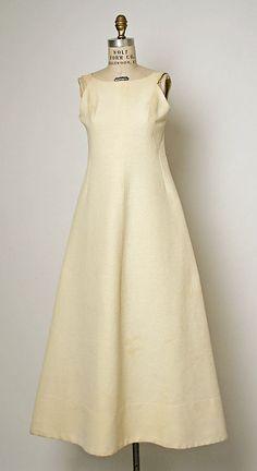 1955 House of Balenciaga Evening dress Metropolitan of Museum, NY. To see more museum dresses go to www.vintagefashionandart.com.