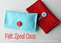 Funda de fieltro para ipod - Diary of a Quilter - a quilt blog: Felt Ipod Case Tutorial