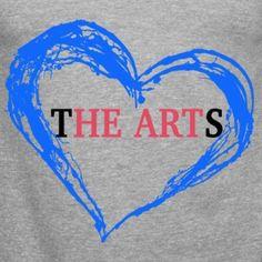 I Heart The Arts Grey Unisex Tank