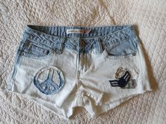 Upcycled Jean shorts size 7/8 $10.00 on Behance