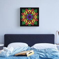 """Flower of Life Mandala"" Canvas Print by Pultzar   Redbubble"