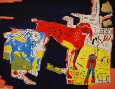 JEAN MICHEL BASQUIAT & ANDY WARHOL use of color mid 80's