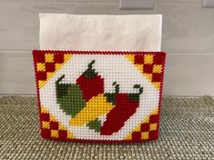 Plastic Canvas Crafts, Plastic Canvas Patterns, Tissue Box Covers, Tissue Boxes, Dog Lover Gifts, Dog Gifts, Halloween Cross Stitches, Taco Tuesday, Cross Stitch Kits