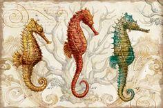 Seahorse art - Google Search