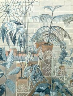 sugarmeows:Jardiniere (drawing, 1979) – Edward Bawden (1903–89)