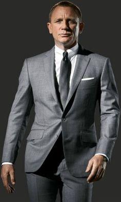 James Bond Skyfall Gray Suit