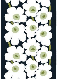 Unikko sateen   Cotton Fabrics   Marimekko   Pattern Designer:Maija & Kristina Isola