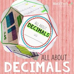 Review DECIMALS with this FUN dodecahedron project! This activity is perfect to complete as a fun end of unit assessment, fun review project, or end of the year activity.
