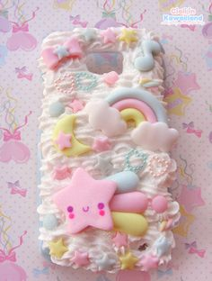Galaxy s2 cover! The theme was starry kawaii sky!