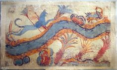 Cat Hunting Ducks Akrotiri, Santorini before 1628BC