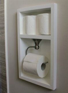 Between the studs, create a recessed area for your toilet paper with this bathroom remodel tutorial. More Remodeled Bathroom Ideas & Inspiring Makeovers on a Budget on Frugal Coupon Living. Source by fclash The post Remodeled Bathroom Ideas Diy Bathroom, Toilet Paper, House Bathroom, Bathroom Renos, Recessed Toilet Paper Holder, Bathroom, Bathrooms Remodel, Bathroom Decor, Bathroom Redo
