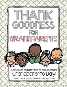 Grandparents Day always falls so early in the year.  With this said, I wanted to compile a handful of low-prep activities that teachers could run with when time and attention spans are limited.  This collection includes everything from a quick and easy card to a mini book.
