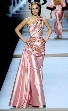Raquel Zimmermann in John Galliano for Christian Dior, Paris
