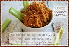 This Smoked Paprika Hummus is so easy to make, not to mention delicious and healthy!