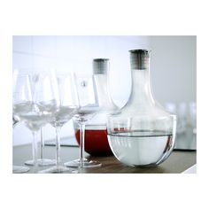 HÄMTA Carafe IKEA Drip-free spout which makes it easier to pour without spilling. Each glass has been mouthblown by a skilled craftsman.