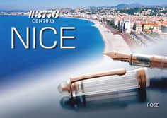 "Platinum 3776 Century Nice Limited Edition. This fountain pen pays homage to the relaxing beachfront town of Nice, France  by utilizing a ""diamond cut"" shape and transparent cap and body. Rose gold trim and a 14k rose gold plated nib add to the image of luxury, perfect for a town known for attracting aristocrats, celebrities, and artists since the 19th century. Our Price just $200."