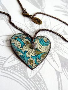 Vintage tin heart.  It's reversible tooooo.
