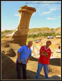 """Get silly with some natural hoodoo formations in Drumheller, Alberta!  Find out more at """"Down the Wrabbit Hole - The Travel Bucket List"""". Click the image for the blog post."""