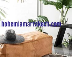 Bohemia Marrakech pouf leather Original by BohemiaMarrakechCom Square Pouf, North Africa, Marrakech, Moroccan, Home Goods, Etsy Seller, The Originals, Trending Outfits, Leather