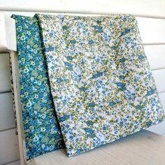 hardtofind. | Baby pram quilt in petite green florals