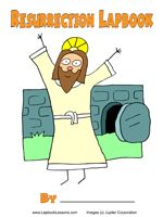 Resurrection Lapbook to study the account of Jesus' death and resurrection - includes video for how to make lapbook