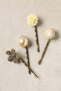 DIY. Hair clip bobby pin. Reuse broken/lost earrings.
