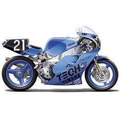 Yamaha Rennteam in 1987 Suzu Japan-Import Yamaha Motorcycles, Custom Motorcycles, Custom Bikes, Cars And Motorcycles, Stunt Bike, Motorcycle Posters, Japanese Motorcycle, Vans Girls, Sportbikes