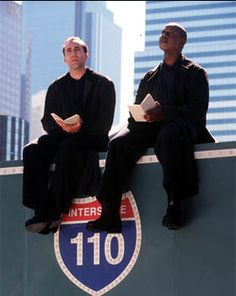 Nicolas Cage & Andre Braugher in 'City of Angels' Nicolas Cage, 90s Movies, Great Movies, Movies And Series, Movies And Tv Shows, Charlie Chaplin, City Of Angels Movie, Movie Theater, Movie Tv