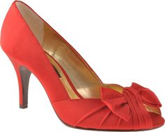 Nina Forbes - Red Rouge Luster Satin - $74.95 - Shoebuy.com, perfect shoes imperfect price :(