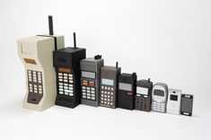 Love this!  Evolution of mobile cellular technology nesting 'dolls'