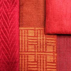 A vibrant red colour palette for these flame retardant upholstery fabrics. From Fr-One Miles collection.