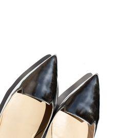 Jimmy Choo Attila mirrored-leather point-toe flats