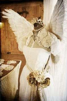 Gorgeous angel dress form (pinned from Ancient Queen Designs)